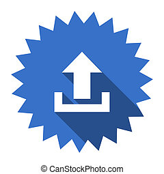upload blue flat icon