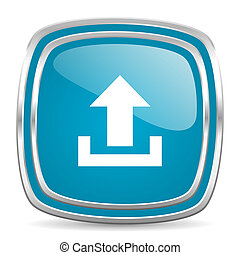 upload blue glossy icon