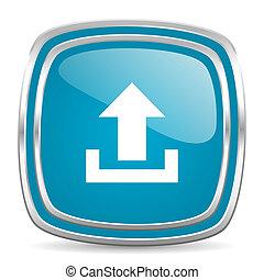 upload blue glossy icon