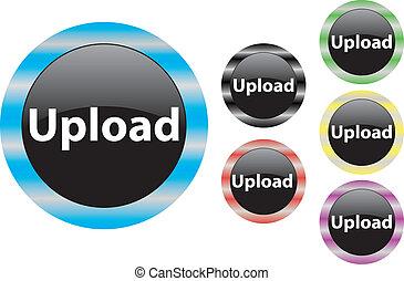 Upload button blue