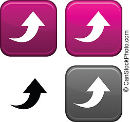 Upload button. - Upload square buttons. Black icon included.