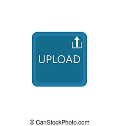 Upload button vector icon design