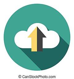 Upload Cloud Data Flat Icon