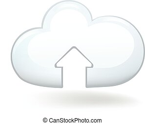 Upload Cloud - Cloud with an upload arrow sign.