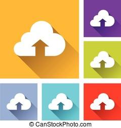 upload cloud icons