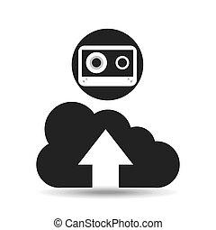 upload cloud sound cassette