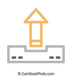 upload  color line icon