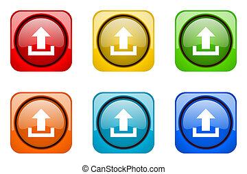 upload colorful web icons