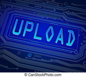 Upload concept. - Abstract style illustration depicting...