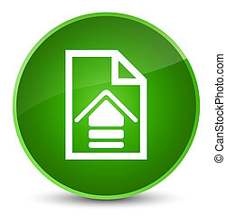 Upload document icon elegant green round button