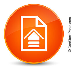 Upload document icon elegant orange round button