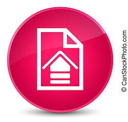 Upload document icon elegant pink round button