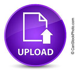 Upload (document icon) elegant purple round button