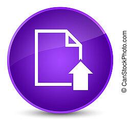 Upload document icon elegant purple round button