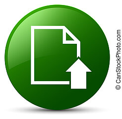 Upload document icon green round button