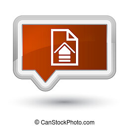Upload document icon prime brown banner button