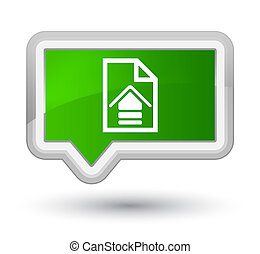 Upload document icon prime green banner button