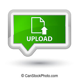 Upload (document icon) prime green banner button