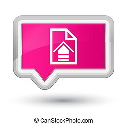 Upload document icon prime pink banner button