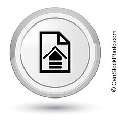 Upload document icon prime white round button