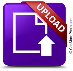 Upload (document icon) purple square button red ribbon in corner
