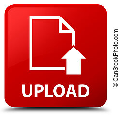 Upload (document icon) red square button