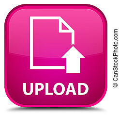Upload (document icon) special pink square button