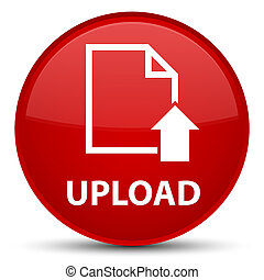 Upload (document icon) special red round button