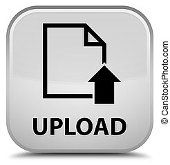 Upload (document icon) special white square button