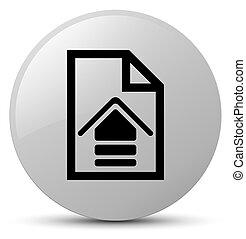 Upload document icon white round button