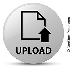 Upload (document icon) white round button