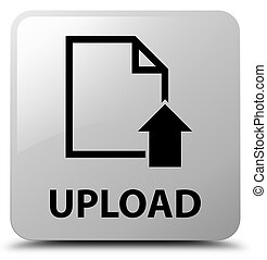 Upload (document icon) white square button