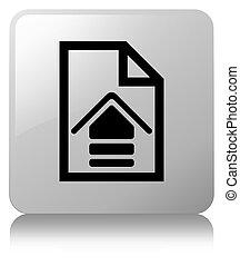 Upload document icon white square button