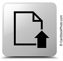 Upload document icon white square button