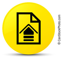 Upload document icon yellow round button