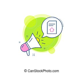 Upload Document line icon. File sign. Vector