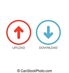 Upload Download icon symbol vector
