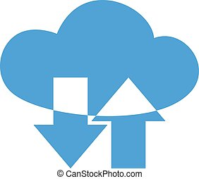 upload, e, scaricare, nuvola, simbolo