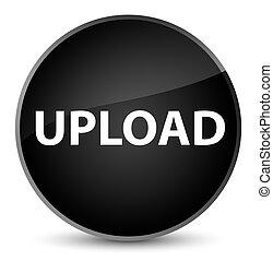 Upload elegant black round button