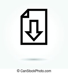 Upload File icon, modern design web element on white background. logo