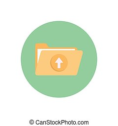 upload  flat color icon