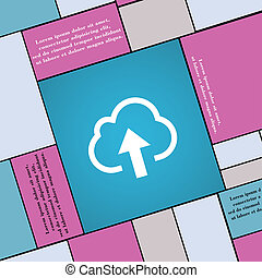 Upload from cloud icon sign. Modern flat style for your design.