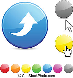 Upload glossy button.