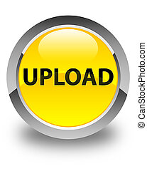 Upload glossy yellow round button