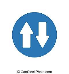 upload glyph color icon