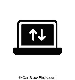upload  glyph flat icon