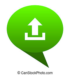 upload green bubble icon