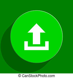 upload green flat icon