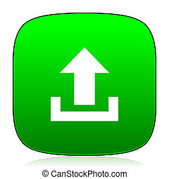 upload green icon for web and mobile app