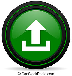 upload green icon